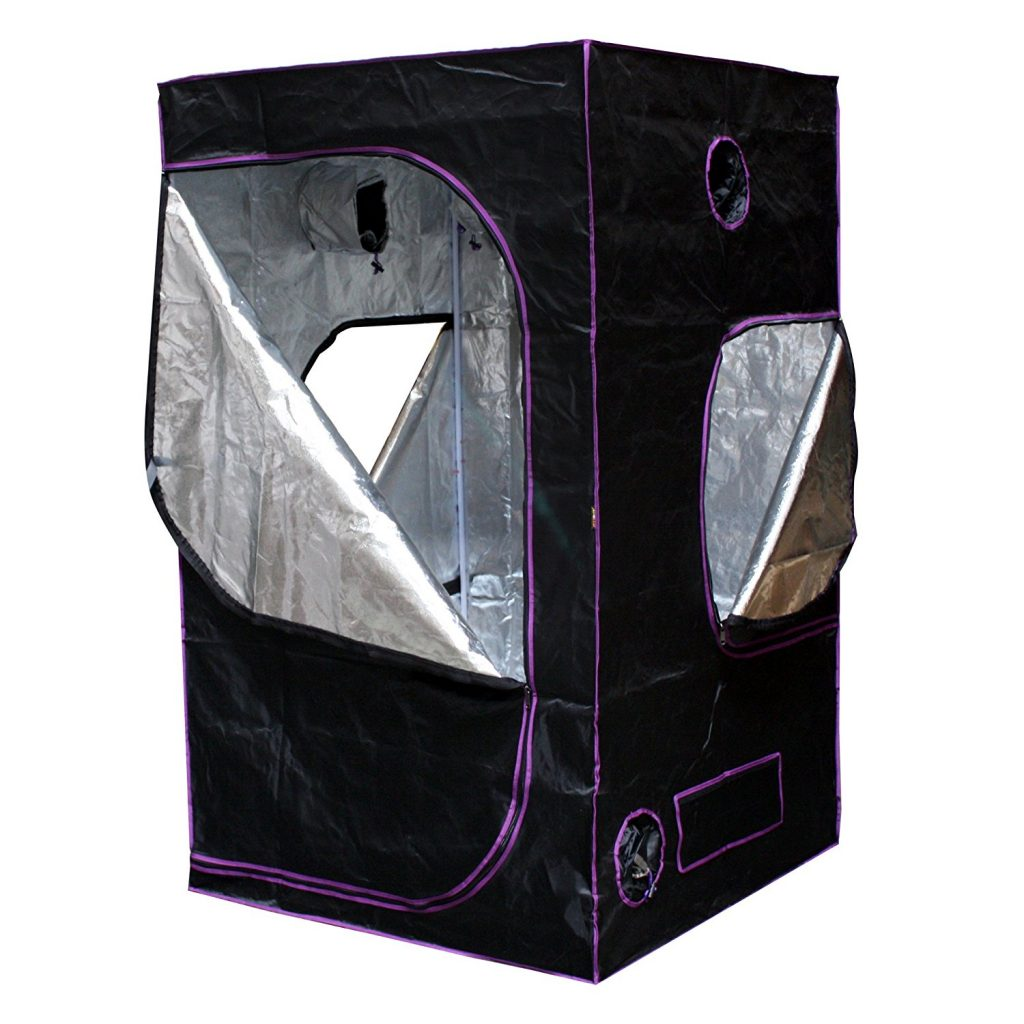 "Apollo Horticulture 48""x48""x80"" Mylar Hydroponic Grow Tent for Indoor Plant Growing"