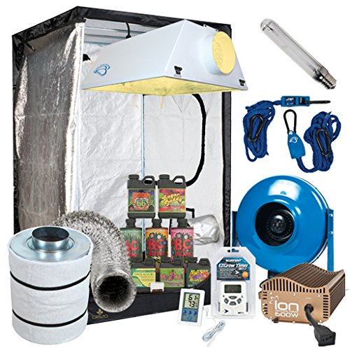 Complete 4 x 4 Grow Tent Package w/ 600W Sealed HPS HID, Digital Ballast, Filter, Fan and more