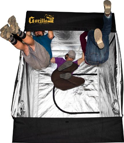 Gorilla Grow Tent GGT59 Tent, 5 by 9 by 6-Feet:11-Inch, Black