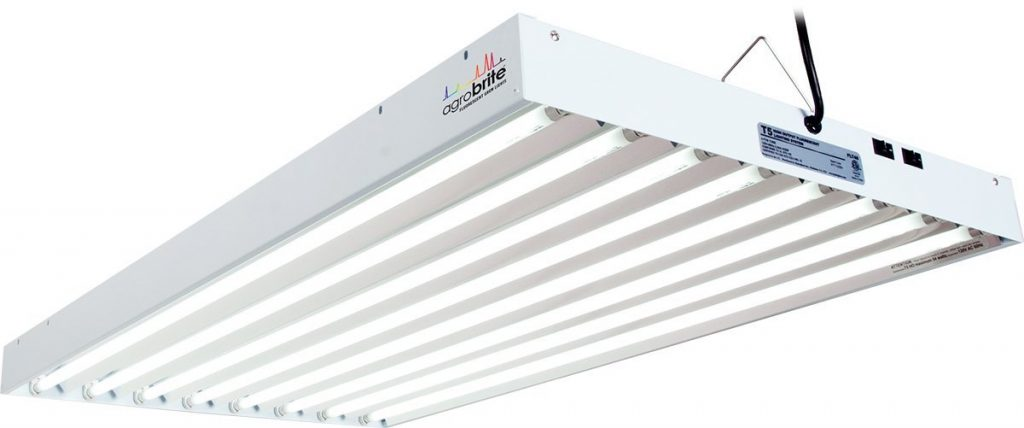 Agrobrite FLT48 T5 Fluorescent Grow Light System, 4 Foot, 8 Tube